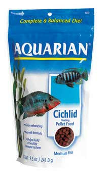 Aquarian Cichlid Pellet Medium 8.5oz - Peazz.com