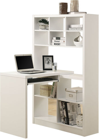 Monarch Specialties I 7022 White Hollow-Core Left Or Right Facing Corner Desk - Peazz.com