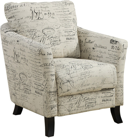 Monarch Specialties I 8007 Vintage French Fabric Accent Chair - Peazz.com