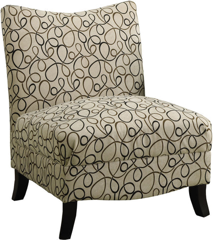 Monarch Specialties I 8047 Tan Swirl Fabric Accent Chair - Peazz.com