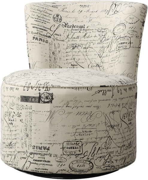 Monarch Specialties I 8094 Vintage French Fabric Accent
