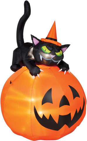 Airblown Cat Over Jack-O-Lantern (SS62396G) - Peazz.com