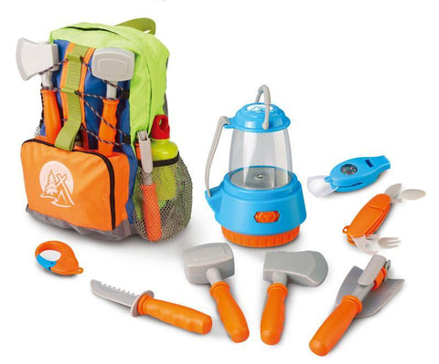 Berry Toys BR008-80C Little Explorer Camping Backpack 9-Piece Play Set - Peazz.com