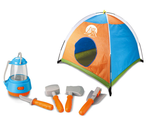 Berry Toys BR008-80F Little Explorer Camping 5-Piece Play Set with Tent - Peazz.com