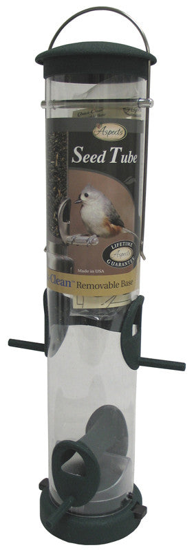 Quick-clean Seed Tube Feeder Hunter Green Medium (424)