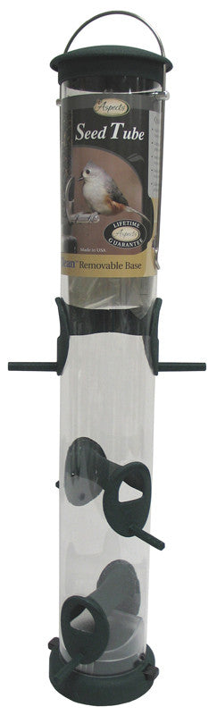 Quick-clean Seed Tube Feeder Hunter Green Small (422)