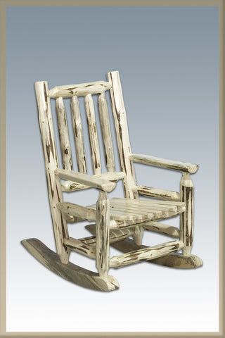 Montana Woodworks MWKRSV Log Rocker, Child's Lacquered - Peazz.com