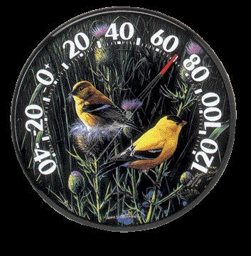 Thermometer Goldfinches Ii 12.5 Inch (1711)