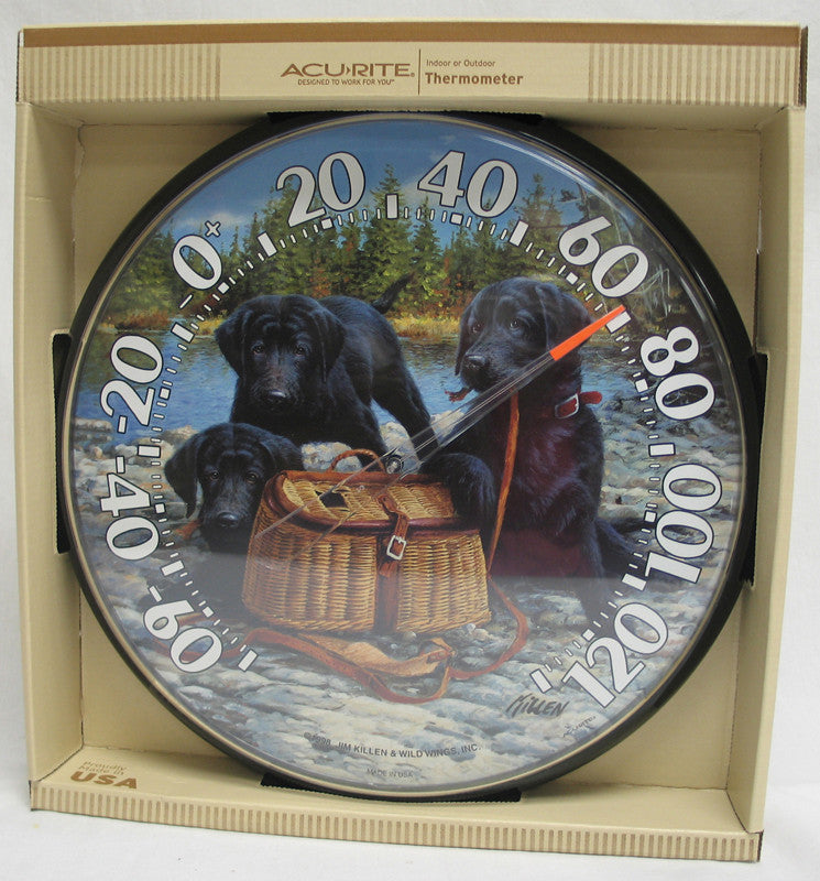 Thermometer Black Lab Puppies 12.5 Inch (1678)