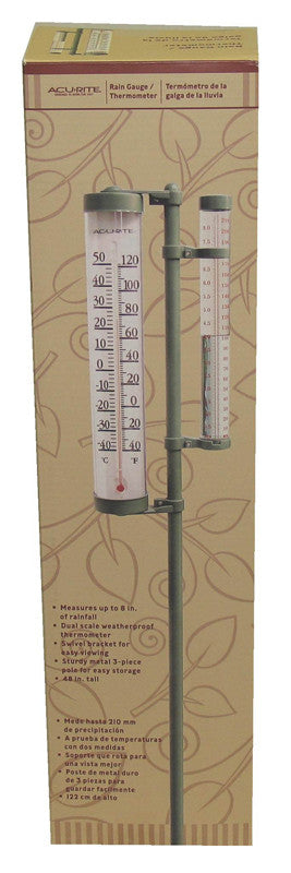 Thermometer Rain Gauge Combo 8.5 Inch (02345a1)