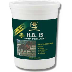 H.B. 15 Biotin Supplement for Horses 7 Lbs (42309) - Peazz.com