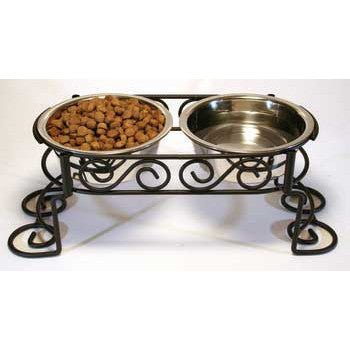 Scroll Work Stainless Steel Double Diner 1 - quart (5850) - Peazz.com