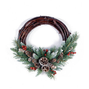 "National Tree FRB-16GV 16"" Frosted Berry Grapevine Wreath - Peazz.com"
