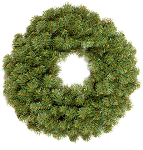 "National Tree KCDR-24W-1 24"" Kincaid Spruce Wreath with 2 1/4"" Branch Diam  - Reshippable Inner - Peazz.com"