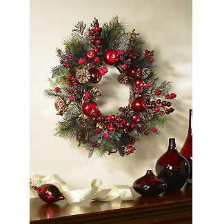 "22"" Apple Berry Wreath - Peazz.com"