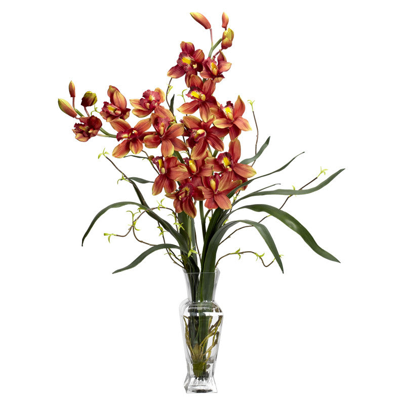 Nearly Natural 1183-BG Cymbidium Silk Flower Arrangement