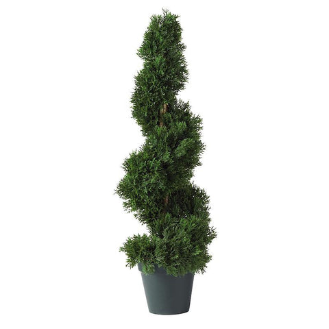 2' Cedar Spiral Silk Tree In-door/Out-door - Peazz.com