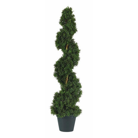 3' Cedar Spiral Silk Tree In-door/Out-door - Peazz.com