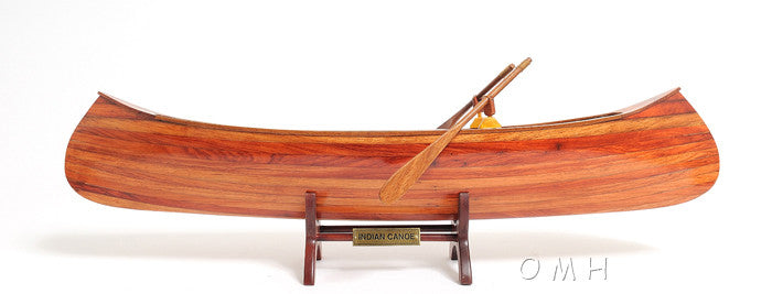 Old Modern Handicraft Indian Girl Canoe OMH-B013