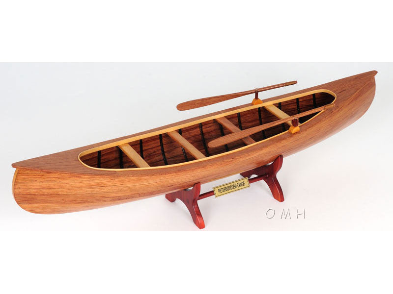 Old Modern Handicrafts B016 Peterborough Canoe in Brown 899376