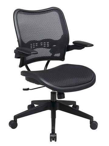 Office Star Space Seating 13-77N1P3 Deluxe AirGrid® Seat and Back Chair with Cantilever Arms - Peazz.com