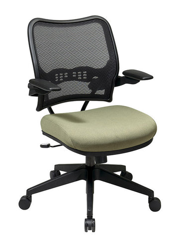 Office Star Space Seating 13-7N1P3 Deluxe AirGrid® Back Chair with Custom Fabric Seat and Cantilever Arms - Peazz.com