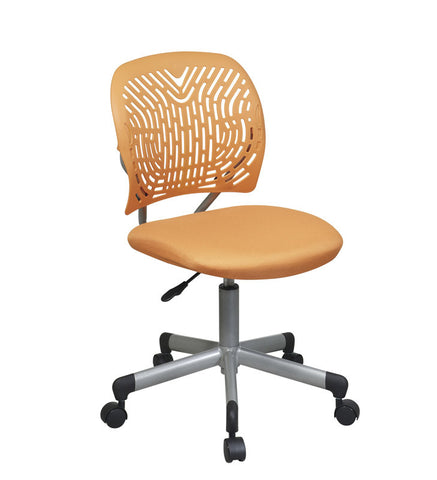 Office Star OSP Designs 166006-18 Designer Task Chair in Orange Fabric and Plastic Back - Peazz.com