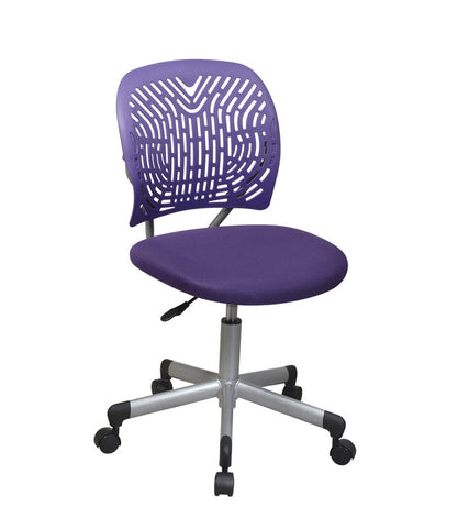 Office Star OSP Designs 166006-512 Designer Task Chair in Purple Fabric and Plastic Back - Peazz.com
