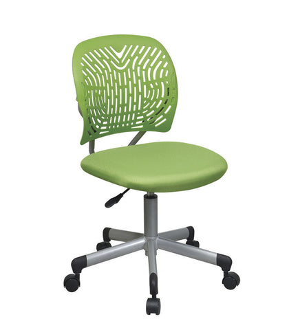 Office Star OSP Designs 166006-6 Designer Task Chair in Green Fabric and Plastic Back - Peazz.com