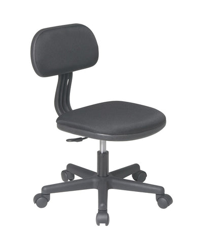Office Star OSP Designs 499-3 Task Chair in Black Fabric - Peazz.com