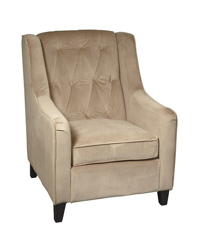 Office Star Ave Six CVS51-C27 Curves Tufted Accent Chair in Coffee Velvet - Peazz.com