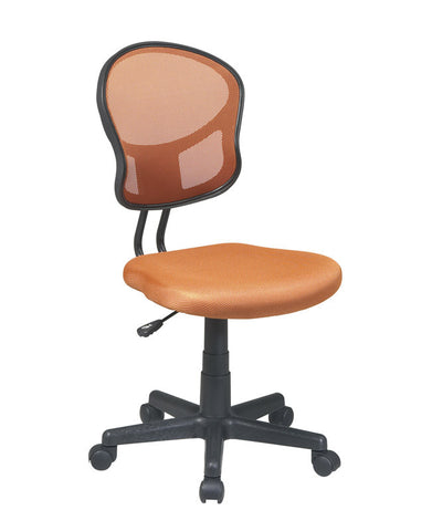 Office Star OSP Designs EM39800-18 Mesh Task chair in Orange Fabric - Peazz.com