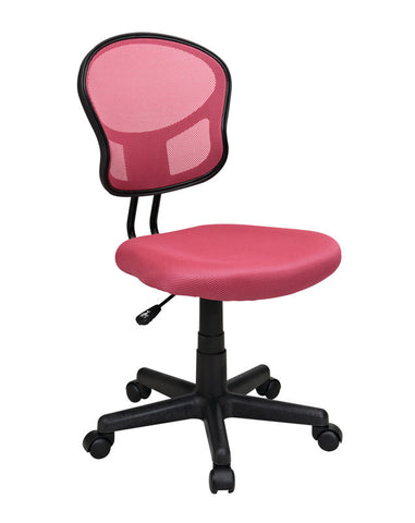 Office Star OSP Designs EM39800-261 Mesh Task chair in Pink Fabric - Peazz.com