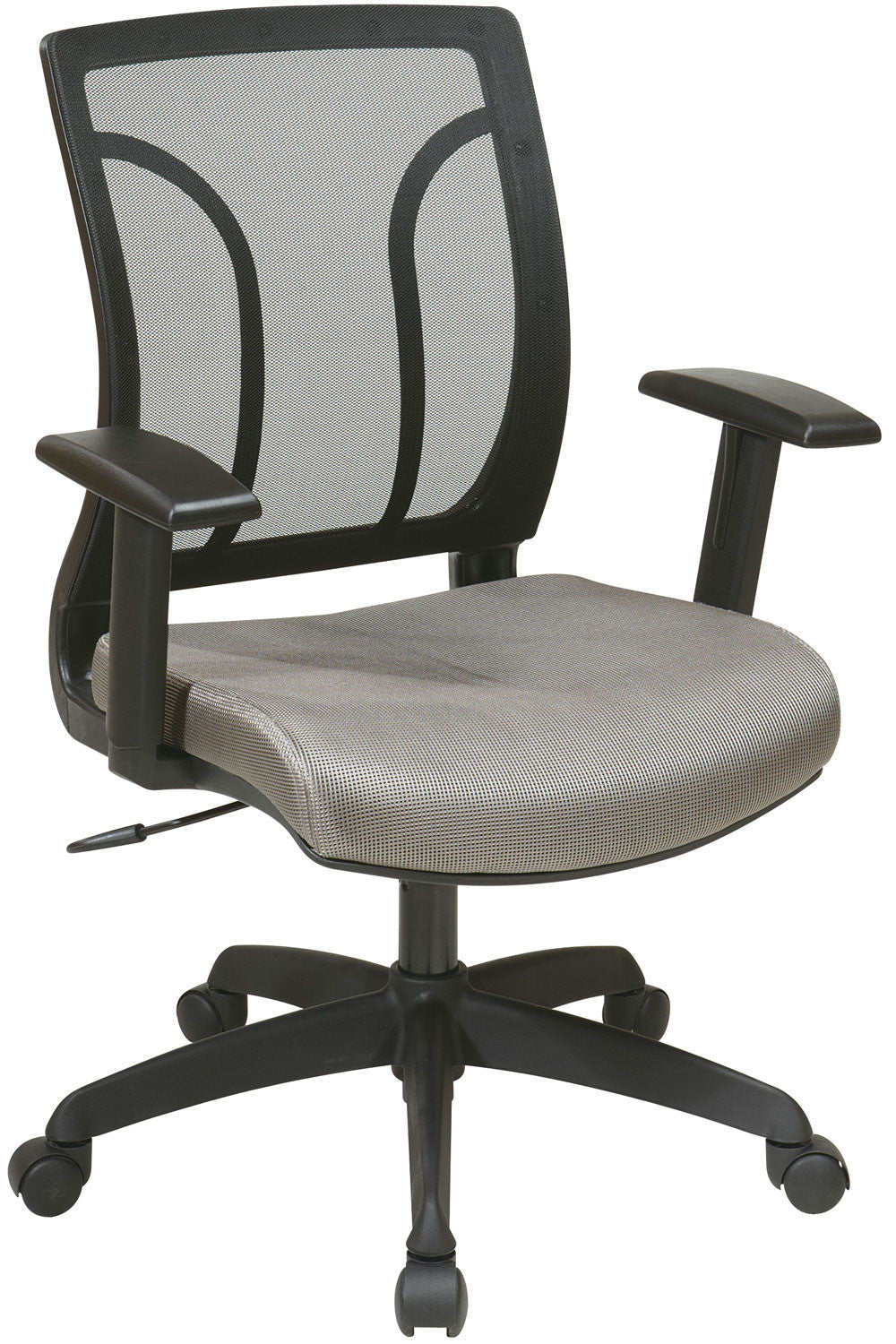 Office Star Work Smart EM50727-2 Screen Back Chair with Mesh Seat with Height Adjustable Arms - C Grade - Ratio - Storm -946 OSP-EM50727-C - 05