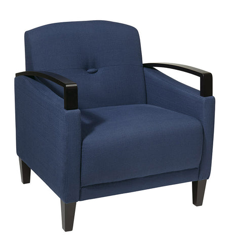 Office Star Ave Six MST51-W17 Main Street Chair in Woven Indigo - Peazz.com