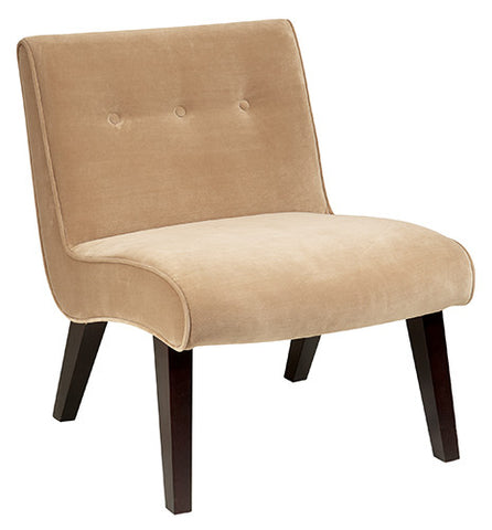 Office Star Ave Six VAL51N-C27 Curves Valencia Accent Chair in Coffee Velvet - Peazz.com