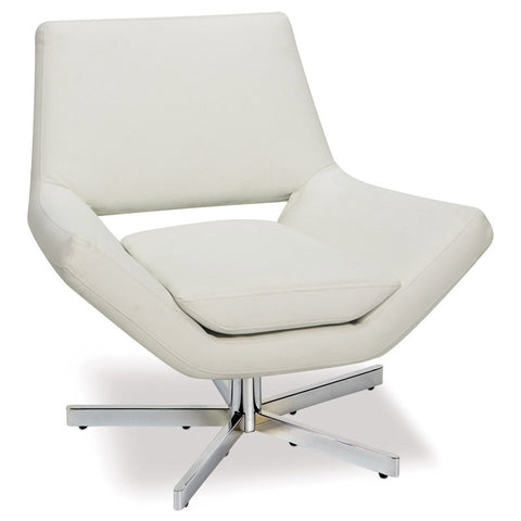 "Office Star Ave Six YLD5130-W32 Yield 31"" Wide Chair in White Faux Leather - Peazz.com"