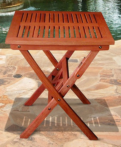 Vifah V03 Outdoor Wood Folding Bistro Table - Peazz.com