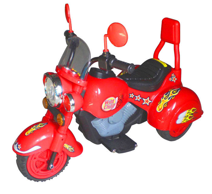 Harley Style Wild Child Motorcycle Red - Battery Operated