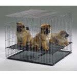 Puppy Playpen w/Plastic Pans and 1/2in Floor Grid 37 1/8L x 19 1/2W x 1 5/8D - Peazz.com