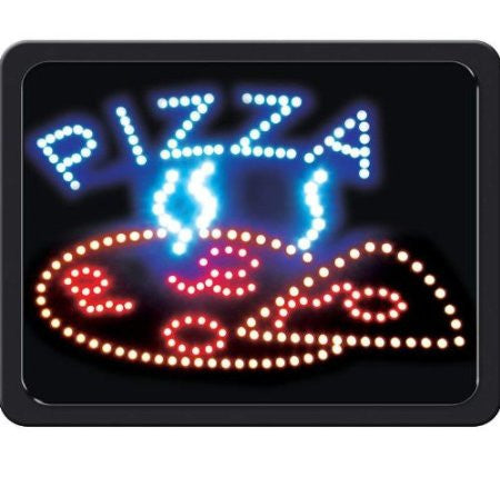 B&F System ELLPZ Mitaki-Japan PIZZA Programmed LED Sign with Pizza Graphic