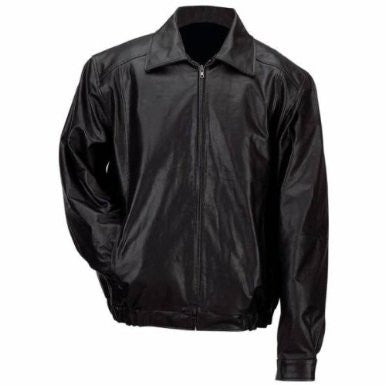 B & F System GFBSL2X Gianni Collani Mens Solid Genuine Leather Bomber-Style Jacket