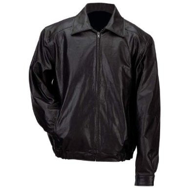 B & F System GFBSLL Gianni Collani Mens Solid Genuine Leather Bomber-Style Jacket