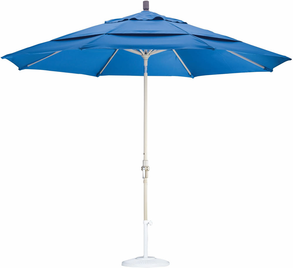 "Patio Heaven CU-AMC110-A Umbrella 11' Alum Market Crank Open W/ Double Wind Vents, 1.5"" Pole"