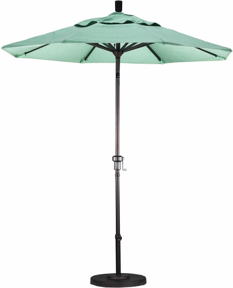 "Patio Heaven CU-AMC750-P Umbrella 7.5' Alum Market Crank Open Push Tilt, 1.5"" Pole"