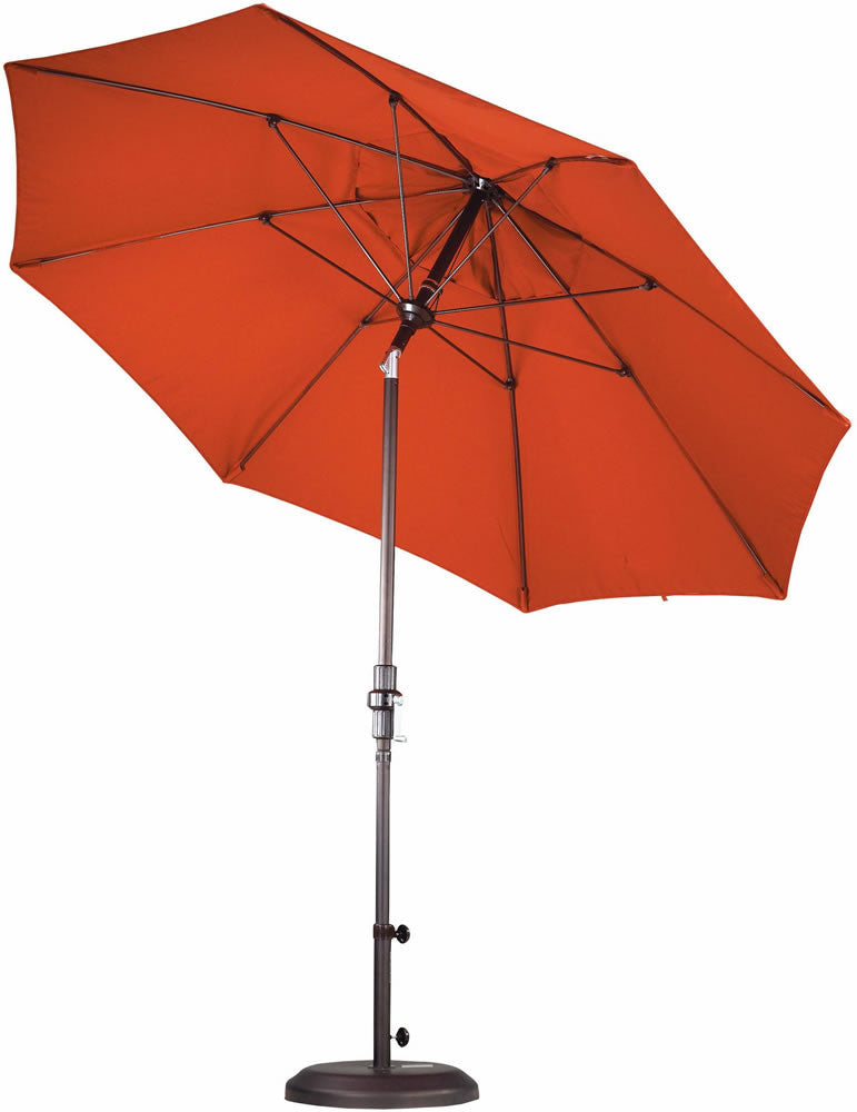 "Patio Heaven CU-AMC900 Umbrella 9' Alum Market Crank Open, 7/3"" Fiberglass Ribs"
