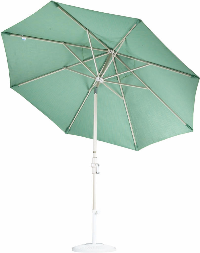 "Patio Heaven CU-AMC900-SS Umbrella 9' Alum Market Crank Open, 1.5"" Pole Stainless Steel Cable"