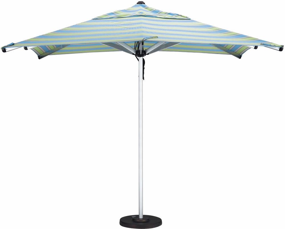 "Patio Heaven CU-AMP-900-4 Umbrella 9' Alum Market (4Mm Wall Thick) Pulley Open, 2"" Pole"