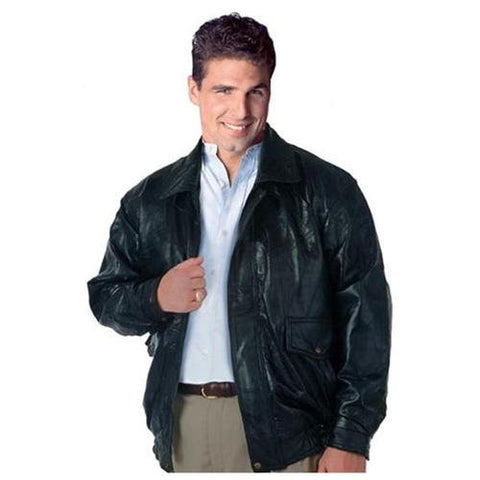 B&F System GFEUCTS Napoline Roman Rock Design Genuine Leather Jacket - Peazz.com