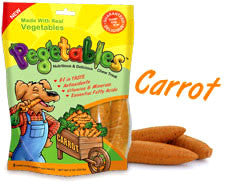 Pegetables Fun and Tasty Chew Treats Carrot (Bag of 8) - Peazz.com